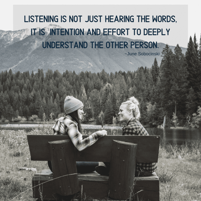 Listening is not Just Hearing